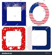 Blue White And Red Flags Blank Patriotic Frames Red White Blue Stock Illustration 33176518