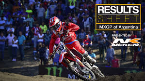 ama motocross results results sheet 2017 mxgp of patagonia argentina motocross