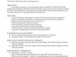 download physical therapy resume haadyaooverbayresort com