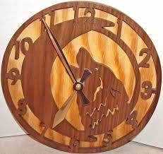 fascinating wolf wall clock 9 wooden wolf wall clock best images