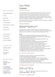 volunteer resume template volunteer cv sle