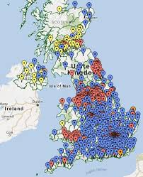 map uk and irelandmap uk counties new constituency boundaries for britain 2018