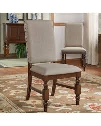 grey linen chair amazing deal on flatiron nailhead upholstered dining chairs set