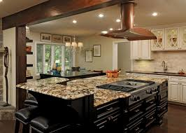 kitchen island with range imposing granite kitchen islands with seating also modern copper