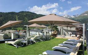 Commercial Patio Umbrella by Paraflex Wall Mounted Umbrella Ideal For Tight Spaces