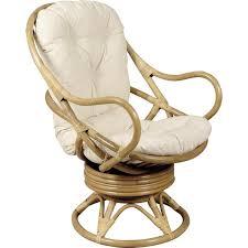 siege en rotin fauteuil en rotin pivotant avec coussinage