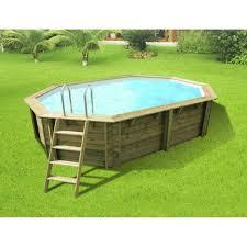 piscine hors sol bois athena l 6 1 x l 4 x h 1 2 m leroy merlin