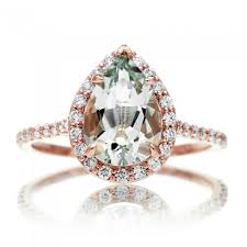 engagement rings green images Quartz prasiolite engagement ring pear 10x7 cut diamond halo JPG