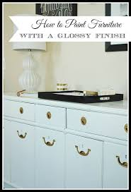 how to paint furniture to get a high gloss professional smooth