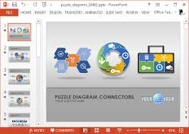animated puzzle diagrams powerpoint template