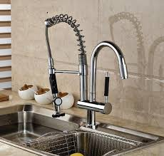 brass kitchen faucet 2017 luxury chrome brass kitchen faucet dual sprayer vessel sink