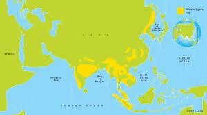 Bay Of Bengal Map Tiger