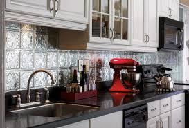 Metal Kitchen Backsplash Tiles Astonishing Tin Ceiling Tile Used For Backsplash