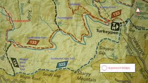 Bent Creek Trail Map Turkey Pen U2013 Packgoats