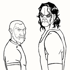 triple h coloring pages