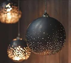 paint ornaments black add glitter use 3m hooks to hang them