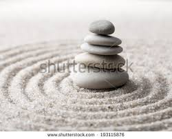 japanese zen garden meditation concentration relaxation stock