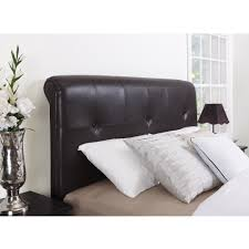 bedroom faux black leather upholstered headboard which decorated