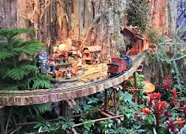 family garden trains butler family bugle christmas trains at the national botanical