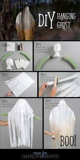 Ghost Halloween Crafts by Halloween Craft Diy Hanging Ghost Improvements Blog