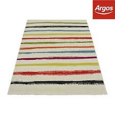 colpop stripe rug 120x170cm beige from the official argos