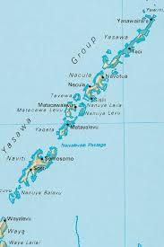 fiji resort map fiji map of yasawa islands