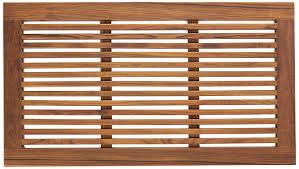Wood Shower Mat Amazon Com Bare Decor Dasha Spa Shower Or Door Mat 31 5 By 17 75