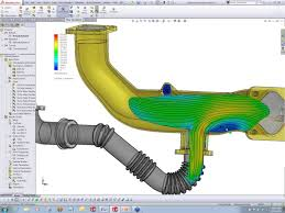 showing stress strain analysis in solidworks simulation