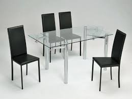 ikea glass top dining table with 2 lilleby trestles ebay ikea