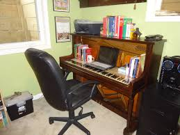 Home Office Desk Components by Diy Computer Desk From An Old Upright Piano Piano Gal Tuning