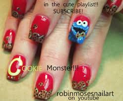robin moses nail art cookie monster nails cookie nails