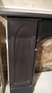 pair of of victorian gothic slate fireplace surrounds for sale at
