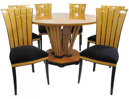 phipps u0026 sons art deco style inlaid dining set