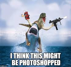 Velociraptor Meme - raptor riding shark meme generator imgflip
