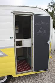 how to paint your vintage trailer door with chalkboard paint