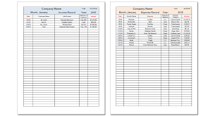 Income Statement Template Pdf by Income And Expense Tracker Savvy Spreadsheets