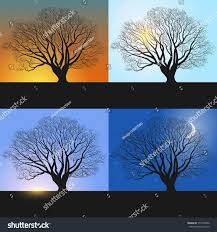 single tree banners showing day sequence stock vector 577233430