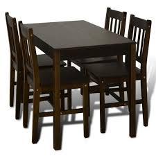 table cuisine 4 chaises set table cuisine avec 4 chaises table à manger en bois marron