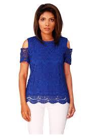 shoulder cut out blouse lace cutout shoulder top shop blouses tops ikon