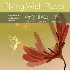 wishing paper flying wish paper mini wishing kit fairy garden