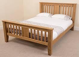 boston 5ft solid oak king size bed frame 220 x 164 x 110 cm