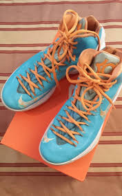 kd easter 5 nike kevin durant kd v 5 easter turquoise blue white orange grey