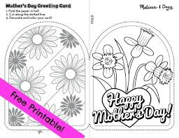 printable mothers day cards to color free s day printables
