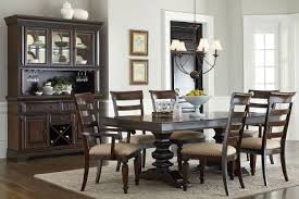 trestle dining table set standard furniture charleston tobacco brown extendable trestle