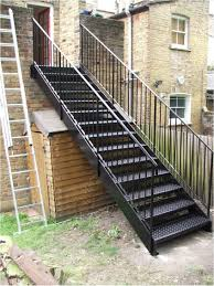 Metal Stairs Design Top Exterior Metal Stairs Residential Small Home Decoration Ideas