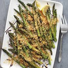 asparagus thanksgiving roasted asparagus with lemony breadcrumbs