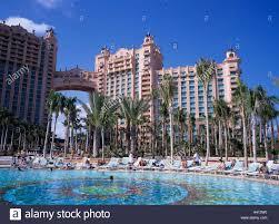 atlantis hotel new providence bahamas blue sky swimming pool deck