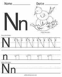 letter n printables