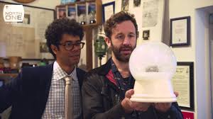 Richard ayoade chris o 39 dowd smash and steal snow globes travel