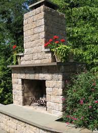Outdoor Fireplace by Simple And Elegant Outdoor Fireplace Kit By Whiz Q Stone This Kit